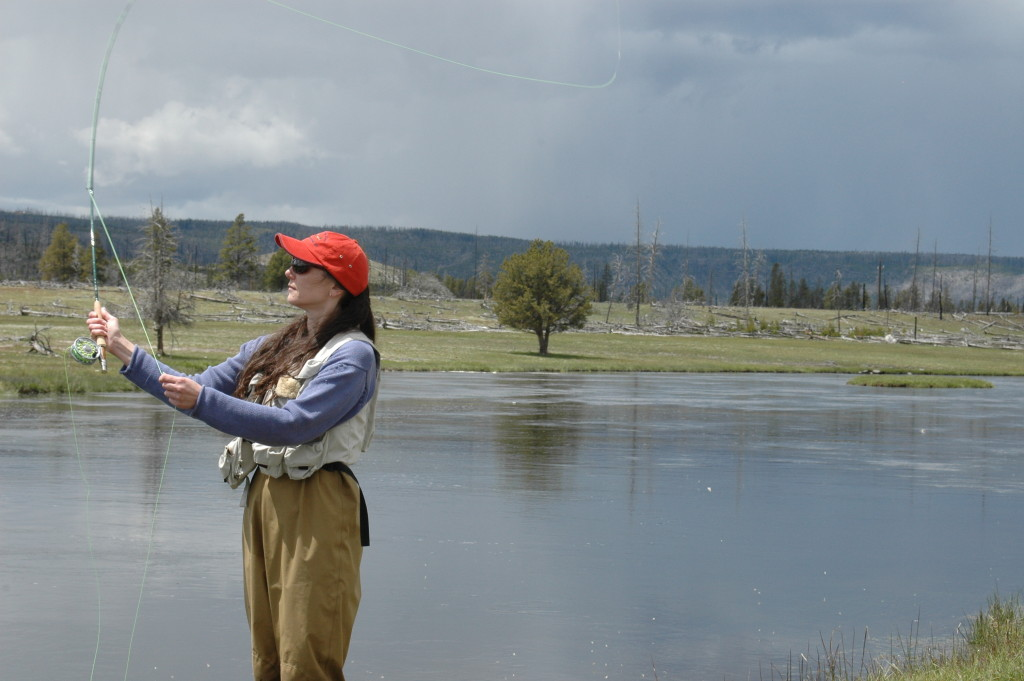 Fly Fishing on the Firehole River in Yellowstone National Park